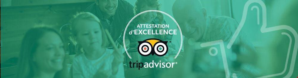 Location Vacances avec Attestation d'Excellence TripAdvisor