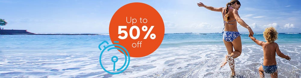 Summer Flash Sale - up to 50% off your holiday*