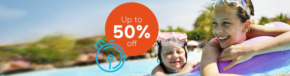 Crazy Flash Sale - up to 50% off summer holidays*
