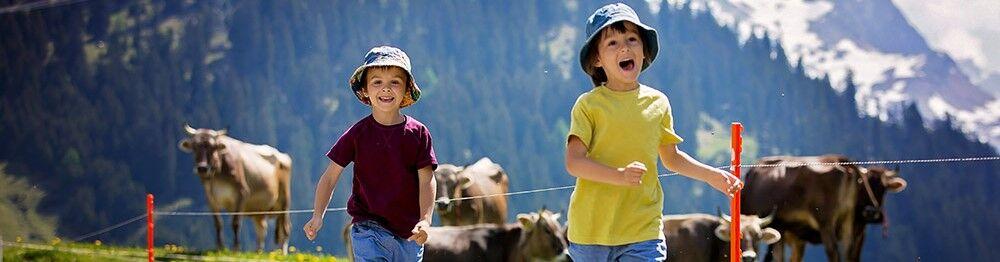 Location vacances avec animations enfants à la montagne en été
