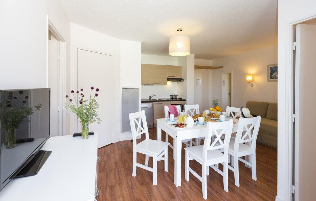 Guidel Plages - Résidence Prestige Odalys Fleur de Sel : Intérieur d'un logement