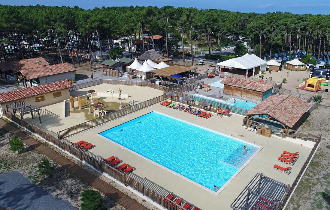 Vielle Saint Girons - Hossegor - Camping Les Tourterelles : Outdoor swimming pool