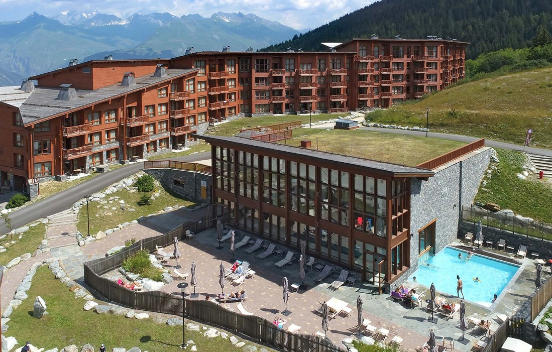Les Arcs 1800 - Odalys Prestige Residence Edenarc : Indoor-outdoor swimming pool