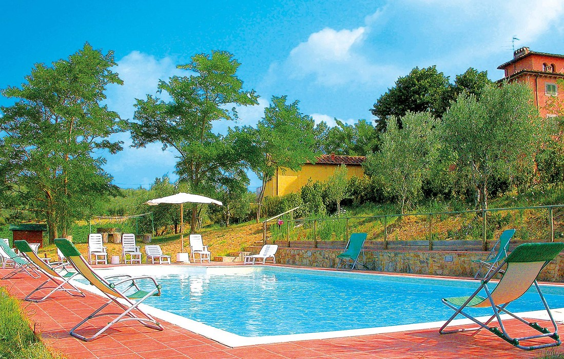 Italy - Toscane Barberino Val d'Elsa - Residence Torraiolo : Outdoor swimming pool