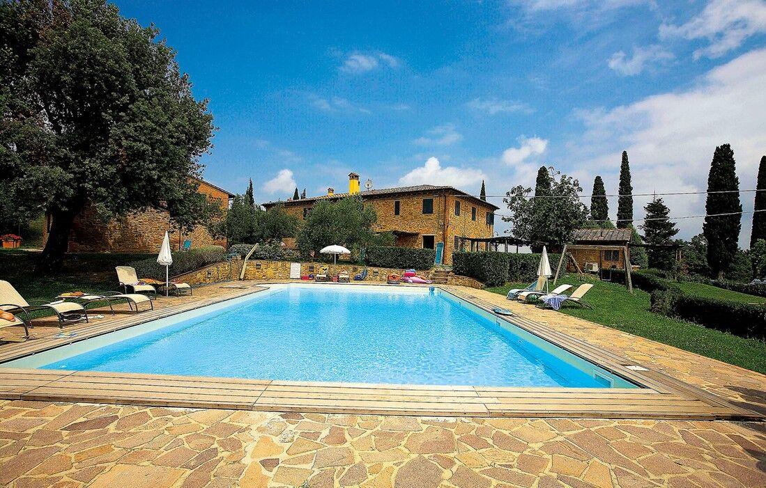 Italie - Montaione - Résidence Catellare di Tonda : Piscine découverte