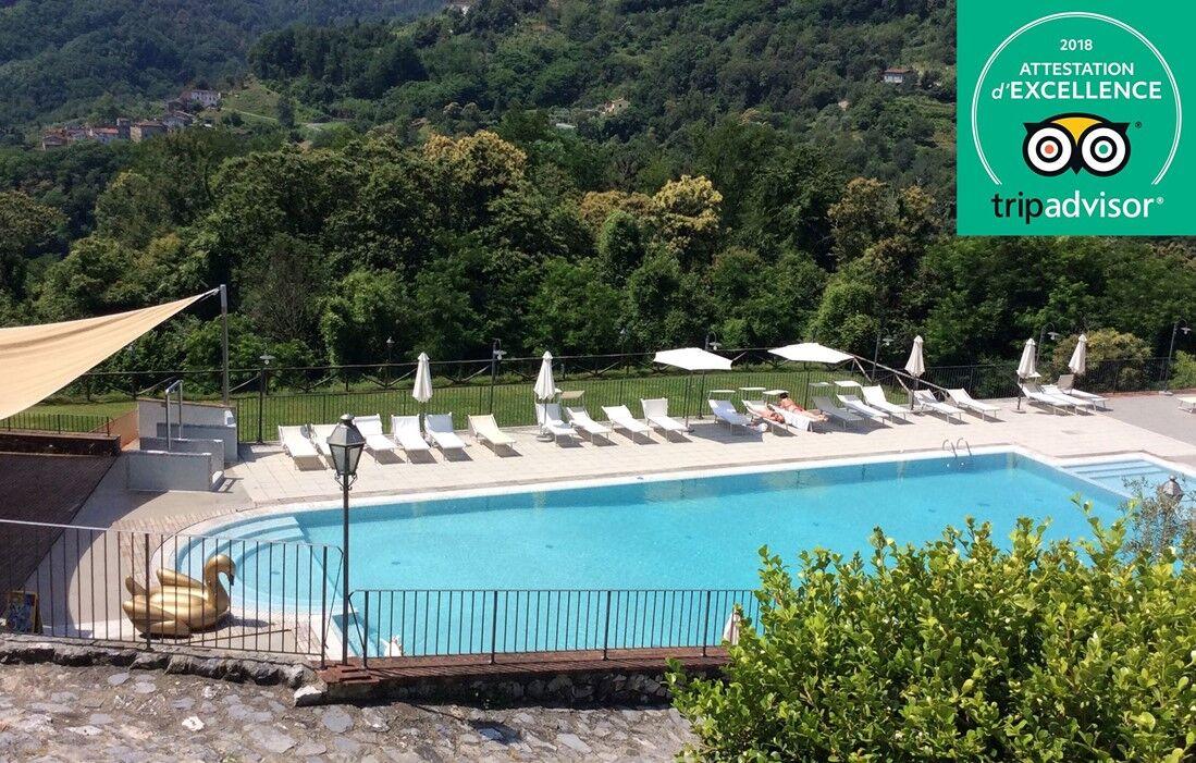 Italie - Borgo a Mozzano - Résidence Borgo Giusto : Piscine découverte