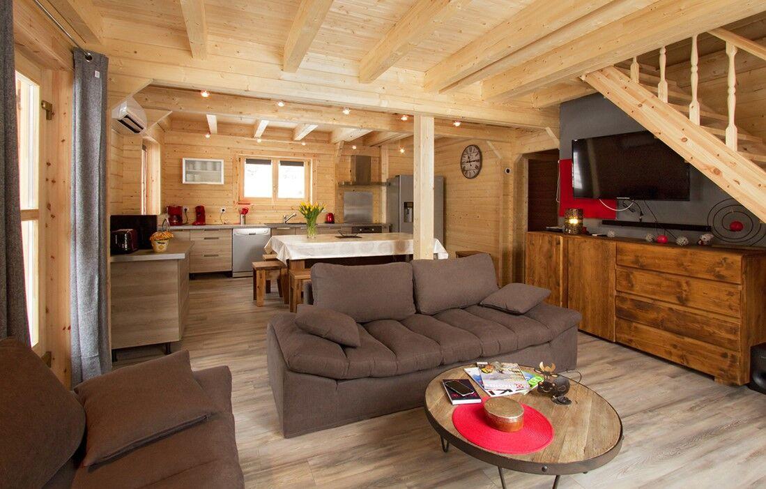 Deux Alpes - Venosc - Chalet Le Melgueil : Intérieur du chalet