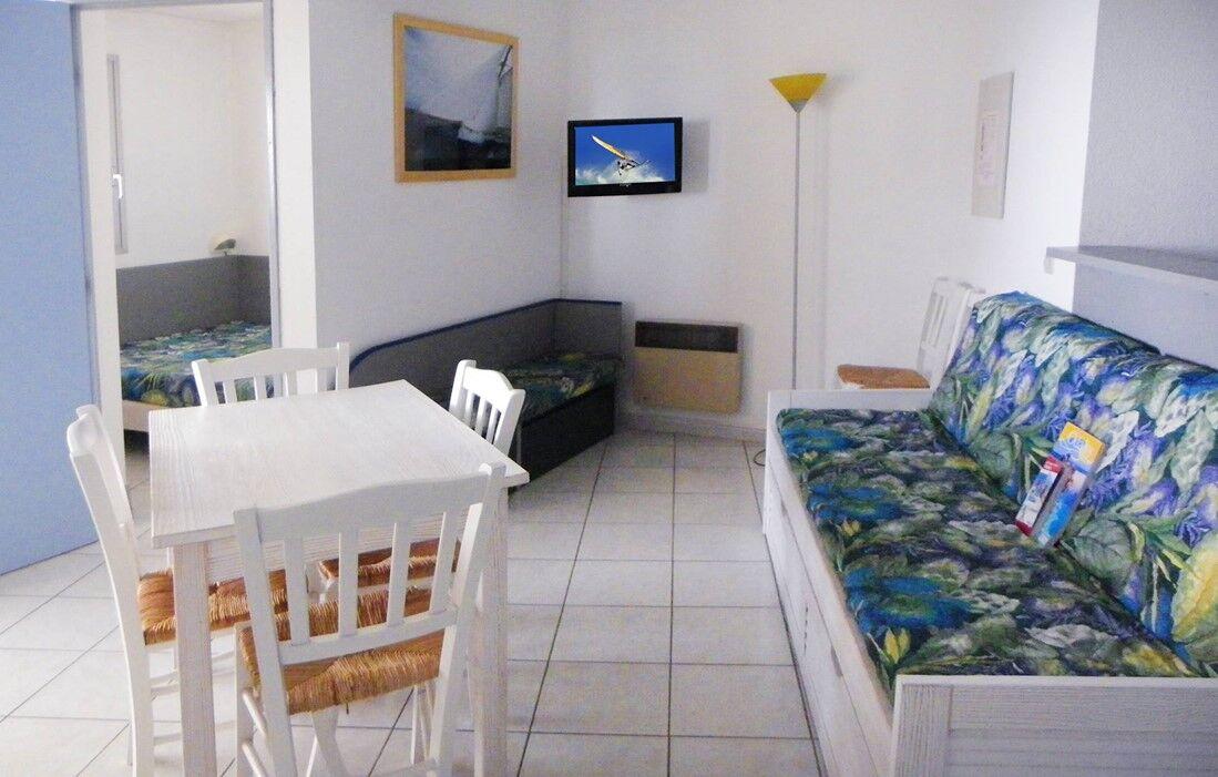 Canet Plage - Résidence Odalys Copacabana : Intérieur d'un appartement