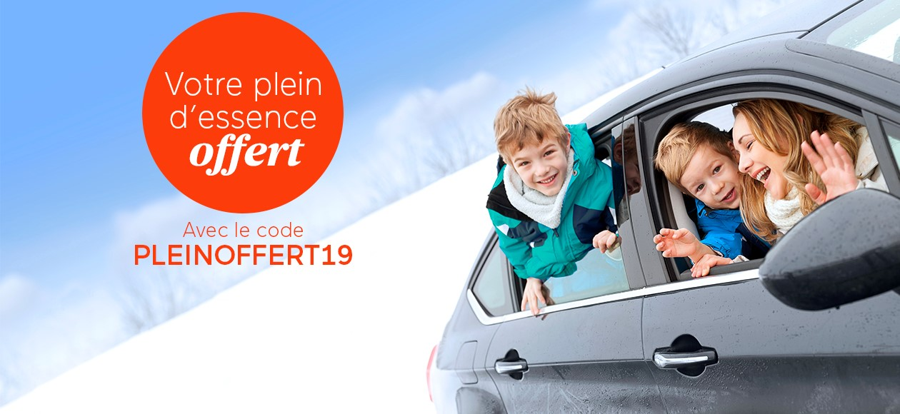 Conditions de l'offre Odalys Vacances Plein d'essence Offert Hiver 2020