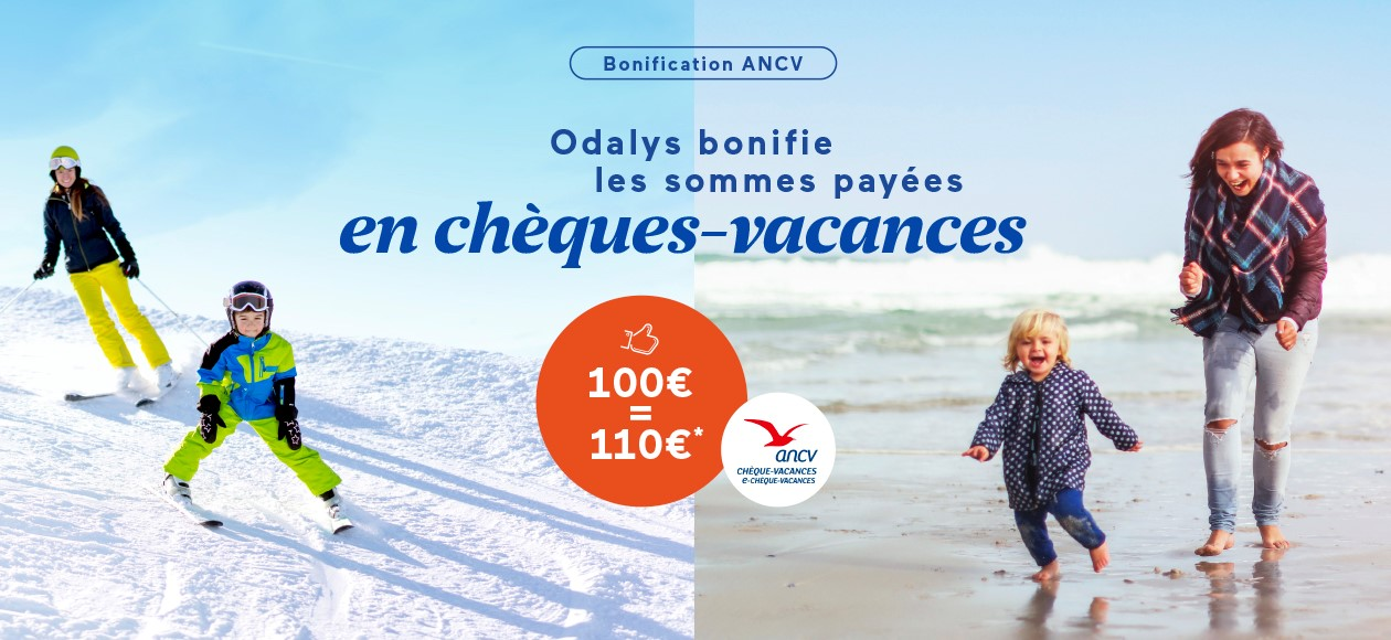 Conditions Odalys bonification ANCV Hiver 2021-2022