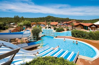 Location Vacances Lit Et Mixe   Domaine Résidentiel De Plein Air Les Vignes  : La Piscine. Campsite With Aquatic Area In A ...