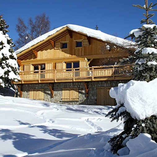 ski chalets french alps