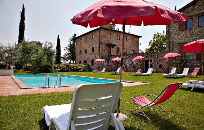 Italy - Tavernelle Val di Pesa - Residence Fattoria Querceto : Outdoor swimming pool