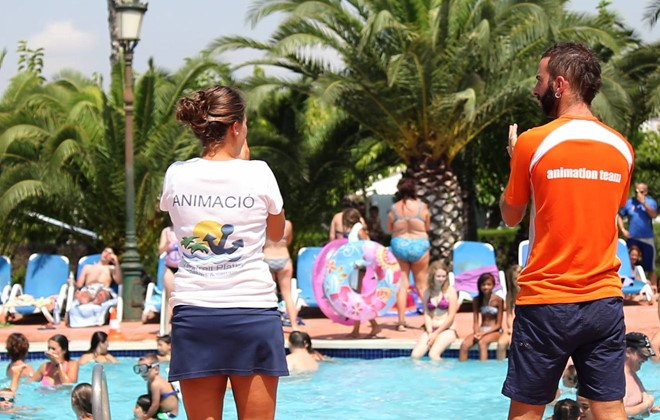 Spain - Coma Ruga - Camping Vendrell Platja : Outdoor swimming pool