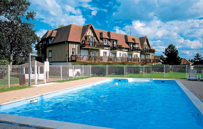 R sidence green panorama cabourg odalys for Camping cabourg avec piscine