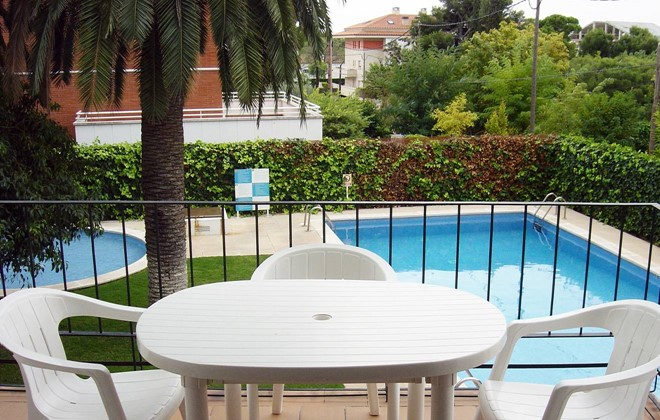 Spain - Sitges - Residence San Jorge : Terrace accommodation