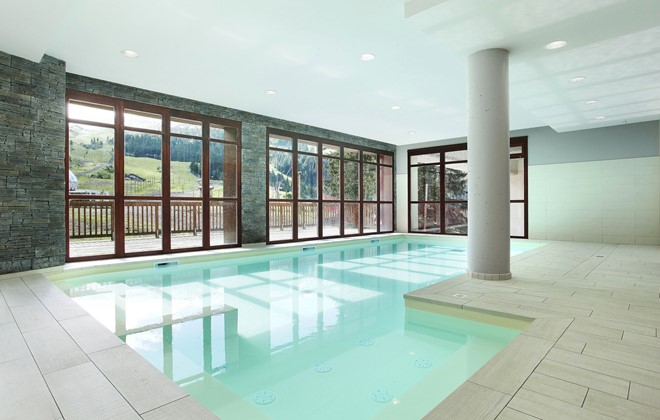 Flaine - Odalys Residence Le Panoramic : Indoor swimming pool