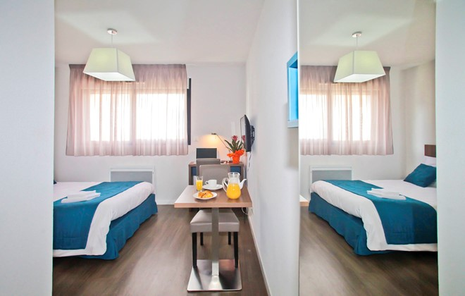 Location tours appart 39 h tel odalys le jardin des lettres for Location appart hotel madrid