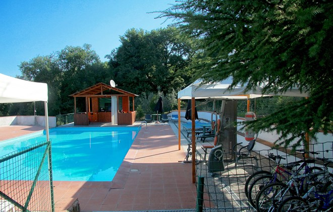 Italy - San Gimignano - Il Capannettino : Outdoor swimming pool