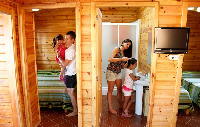 Spain - Cambrils - Camping La Llosa : Inside of a bungalow