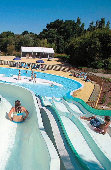 holidays swimming pool with slide
