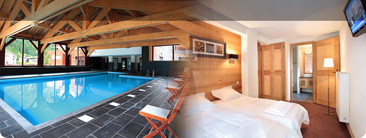 Holiday rental with a free heated indoor swimming pool