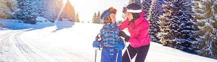 ski holiday rentals february march