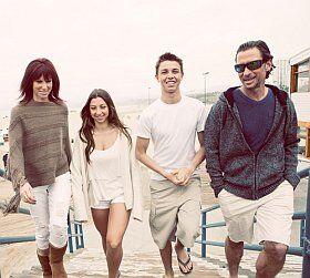 Ambiance famille en vacances avec des ados