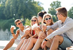 Ambiance entre jeune en vacances