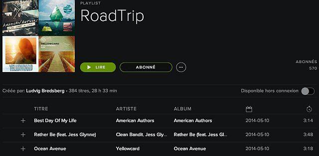 Musique pour le trajet des vacances