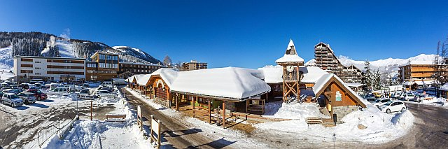Station Pra Loup en hiver