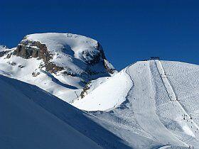 Le Grand Séolane, un sommet de la station de Pra-Loup