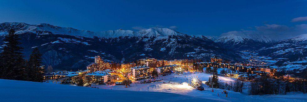 Pra Loup, station de ski jour et nuit