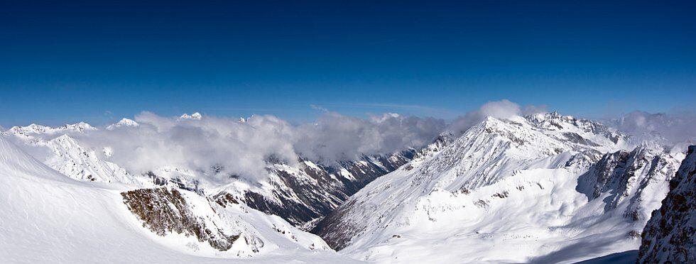 Pra Loup : panorama sur les Alpes du Sud