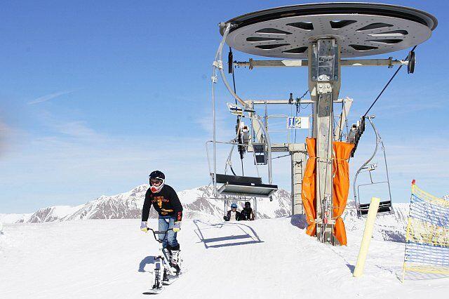 Snowscoot à Pra Loup