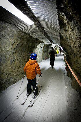 Le tunnel piste noire de l'Alpe d'Huez
