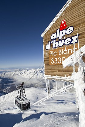 Pic blanc à L'Alpe d'Huez