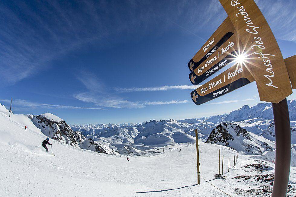 La glisse à l'Alpe d'Huez