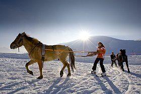 Ski-Joering à l'Alpe d'Huez
