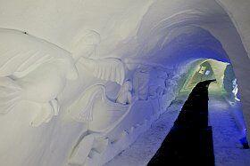 Grotte de glace à l'Alpe d'Huez