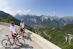 Route panoramique à vélo