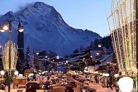 station les 2 Alpes de nuit
