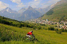 descente en VTT dans les 2 Alpes