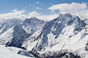 panorama sur les Ecrins aux 2 Alpes