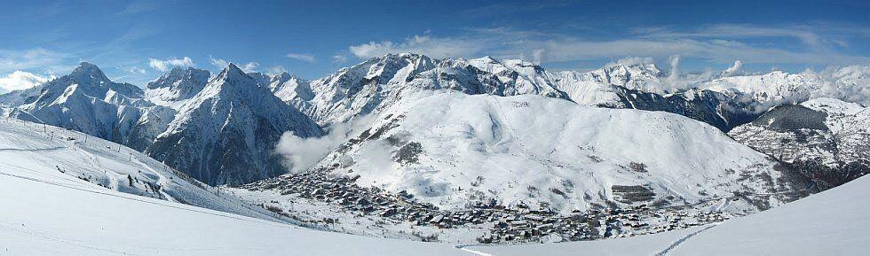 station les 2 Alpes en hiver