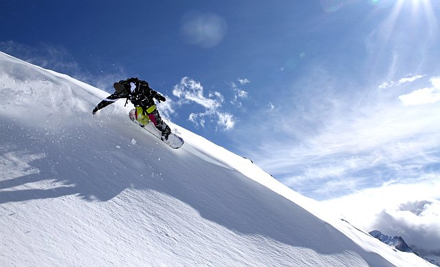 snowboard freeride aux 2 Alpes