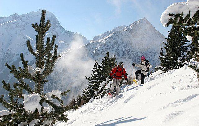 randonnée en raquette des neiges les Deux Alpes