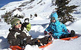 espace luge pour enfants en vacanes aux Deux Alpes
