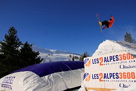 air bag freestyle aux Deux Alpes