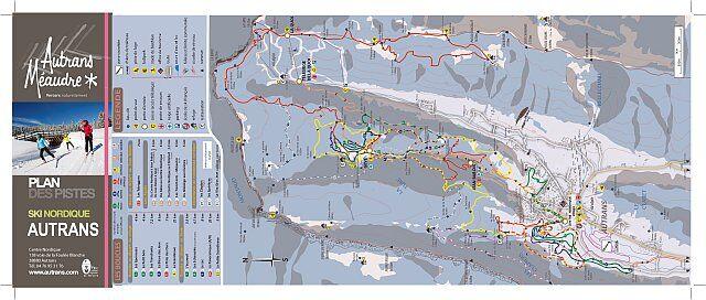 Cliquez pour télécharger le plan des pistes ski de fond à Autrans Méaudre en HD